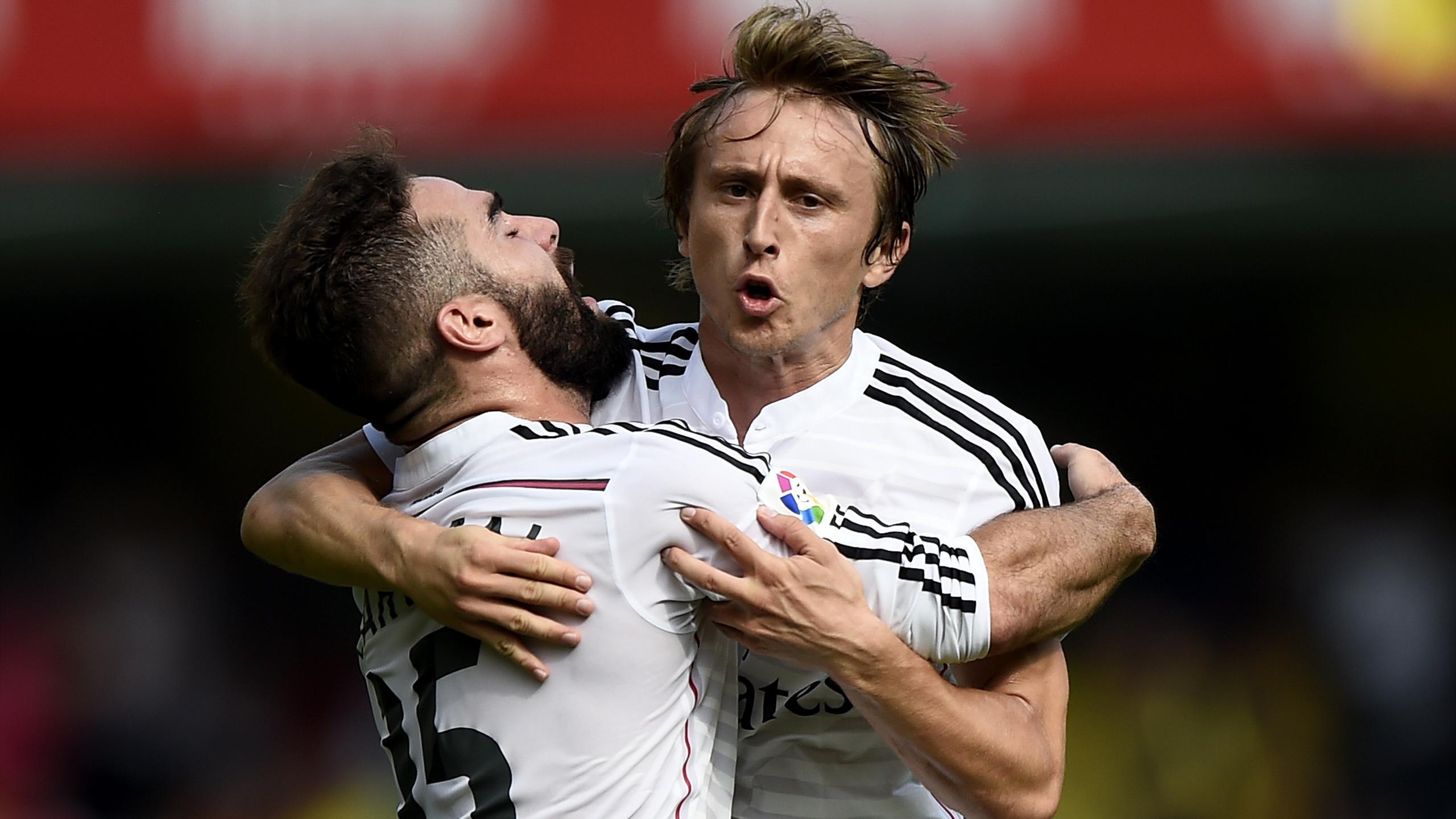 Dani Carvajal y Luka Modric con el Real Madrid