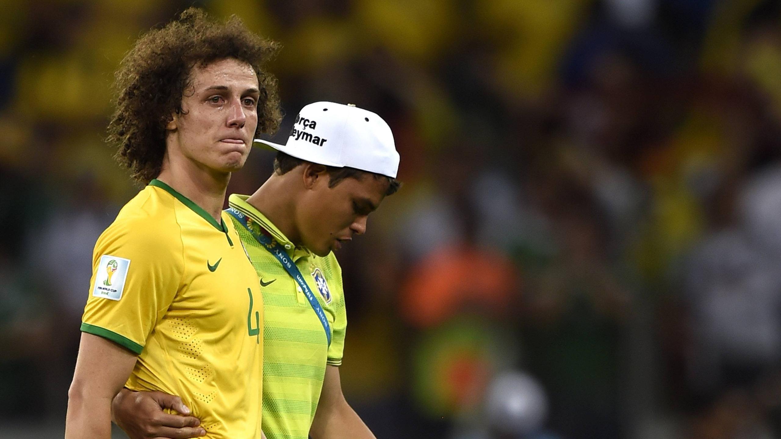 David Luiz et Thiago Silva au Mondial 2014