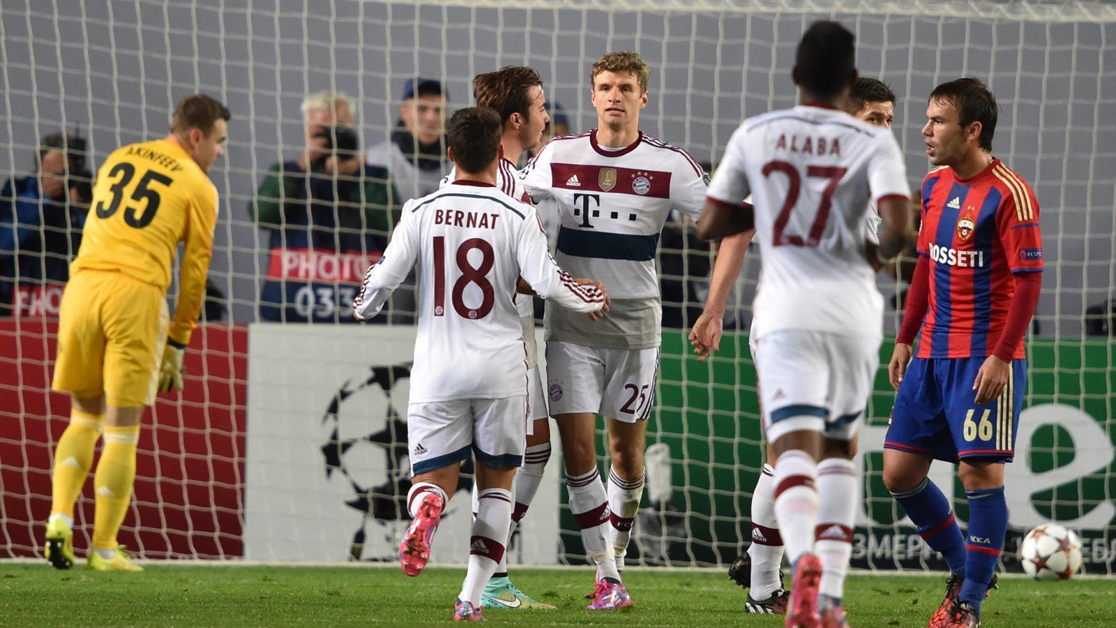 CSKA  - Bayern : Le Bayern s