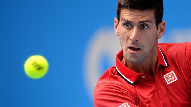 Tennis : M�me en demi-teinte, Djokovic est pass� en deux sets