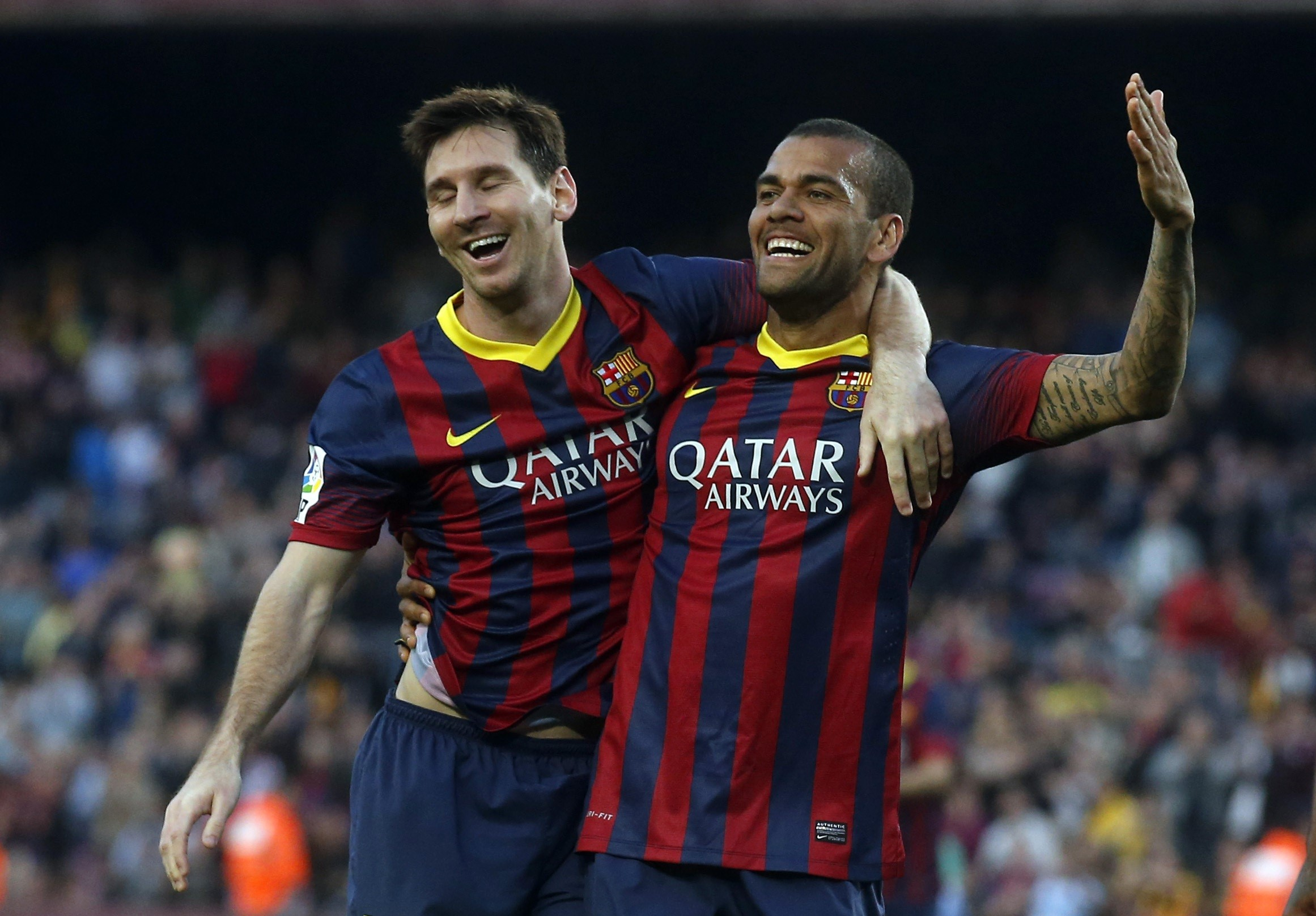 Dani Alves & Messi