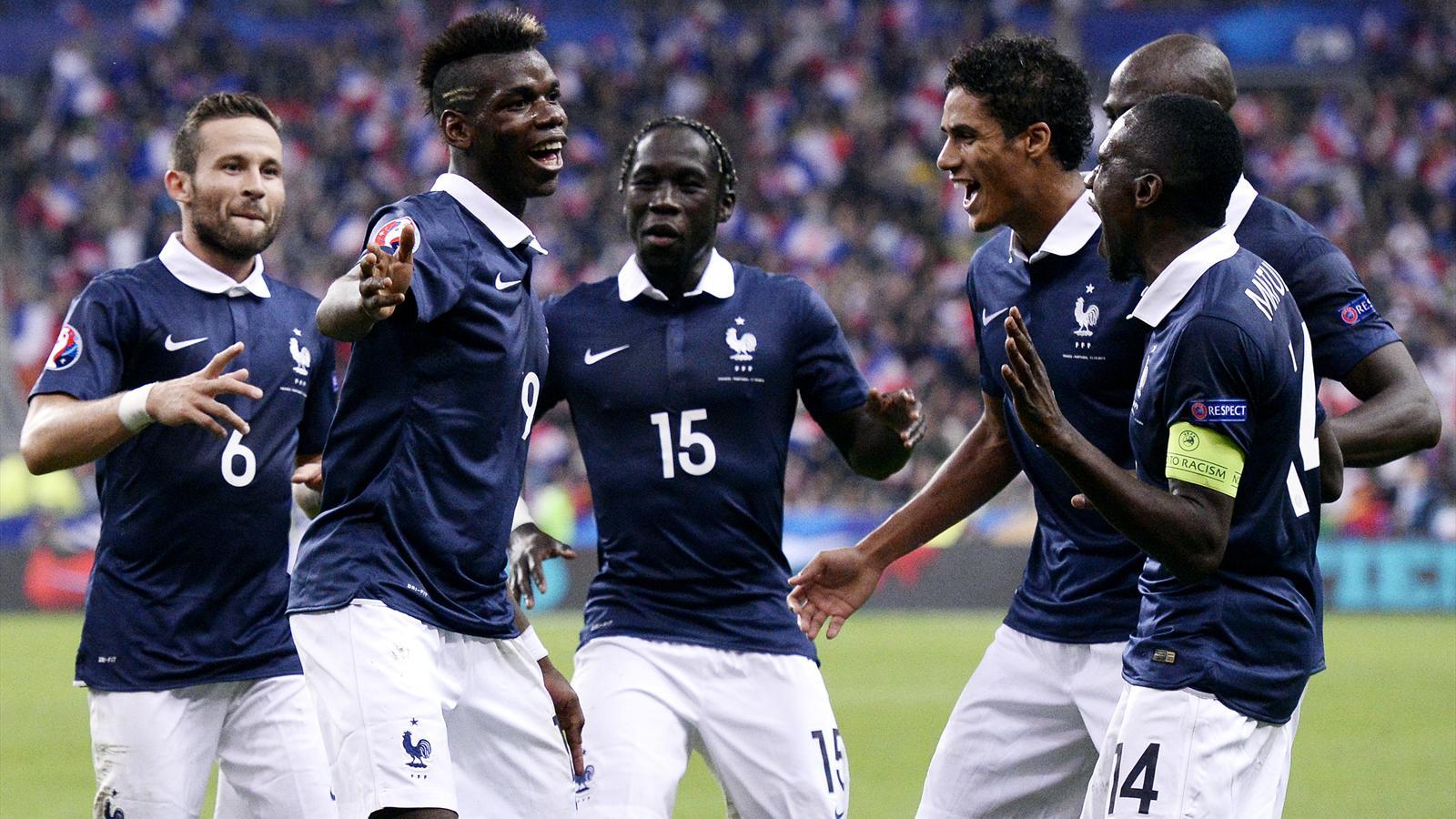 L'Equipe de France s'entraîne au Stade Matmut Atlantique