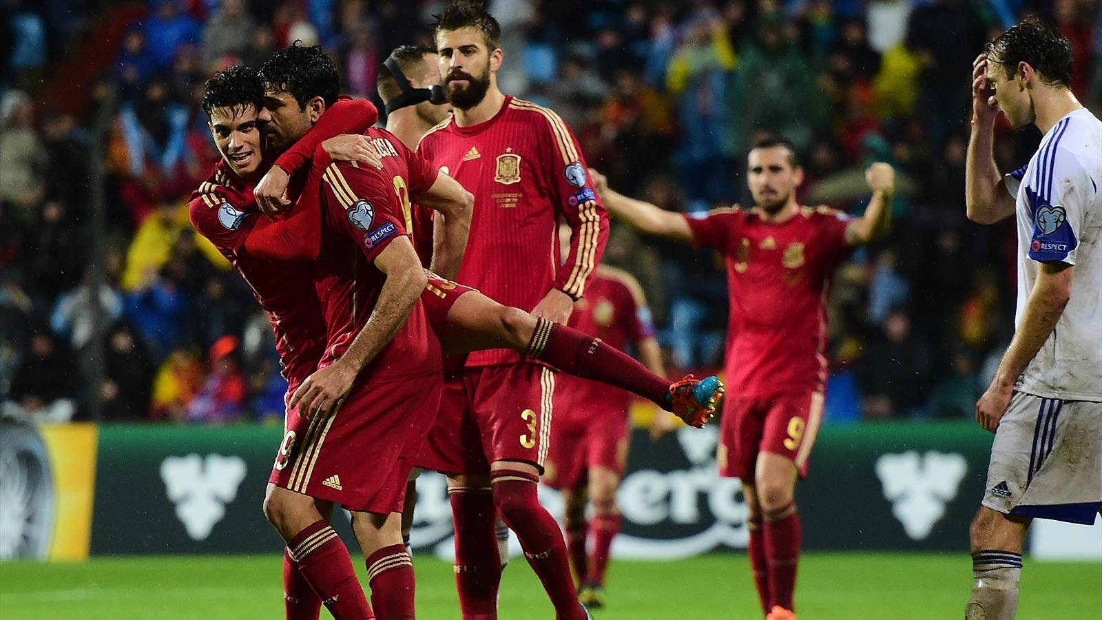 Luxembourg - Espagne (4-0) : Un carton et un but de Diego Costa, ça va mieux pour la Roja