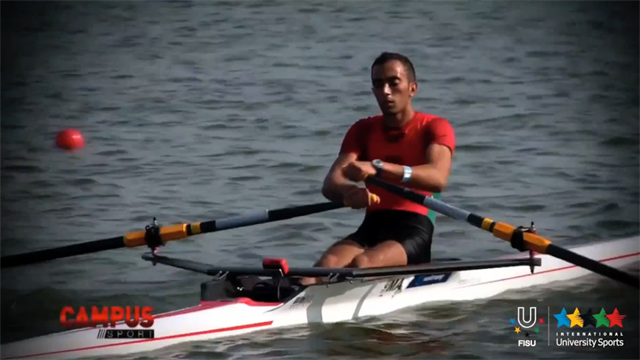 Focus Ali Abouelouafa (MAR) Nantes University, WUC 2014 Rowing - Campus Sport 27