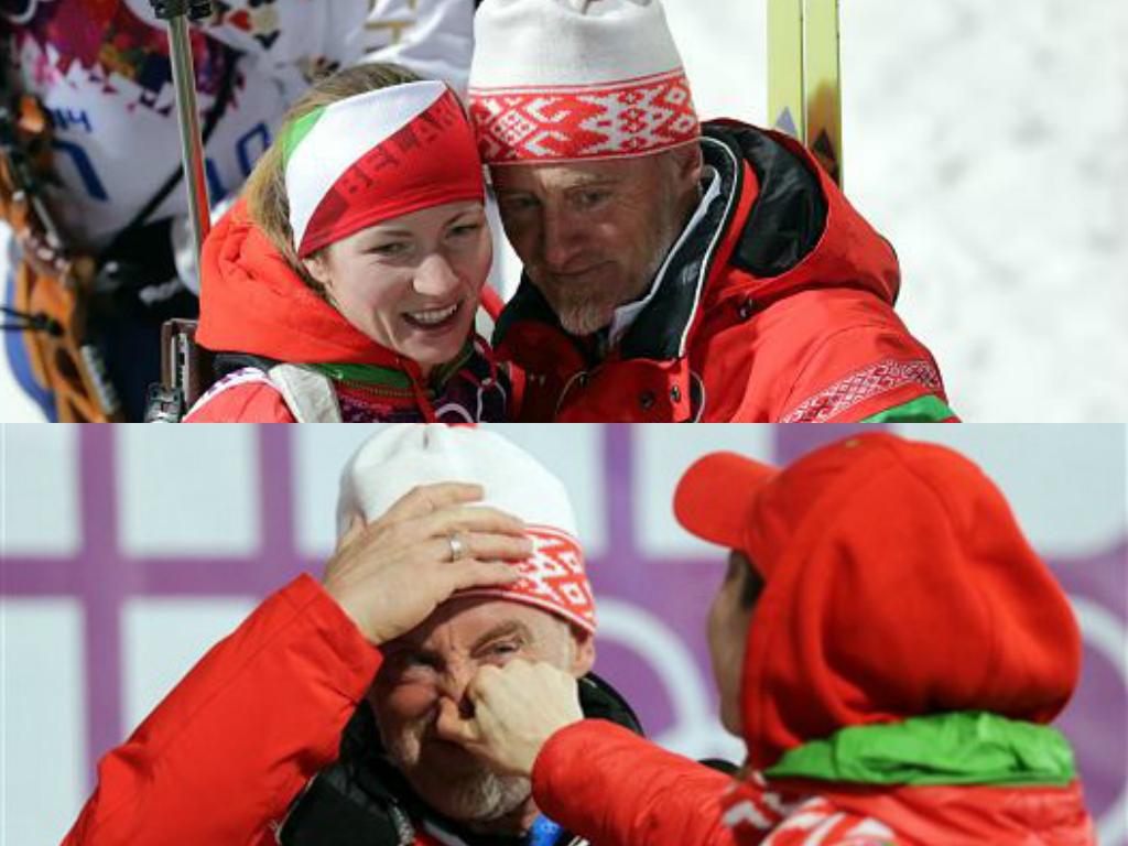 Дарья Домрачева и Клаус Зиберт