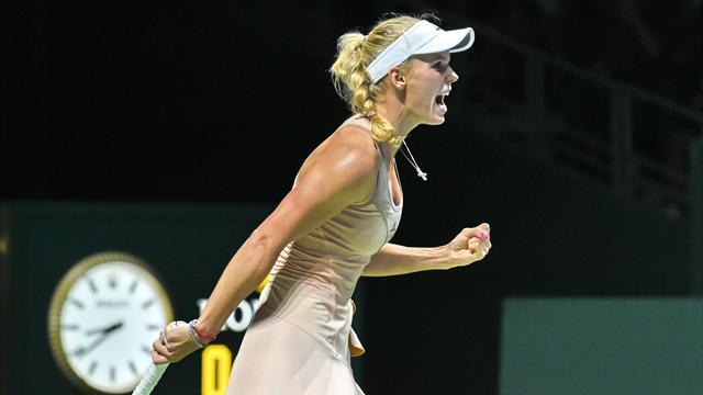 Du début à la fin, Wozniacki n'a rien lâché et a fait craquer Sharapova