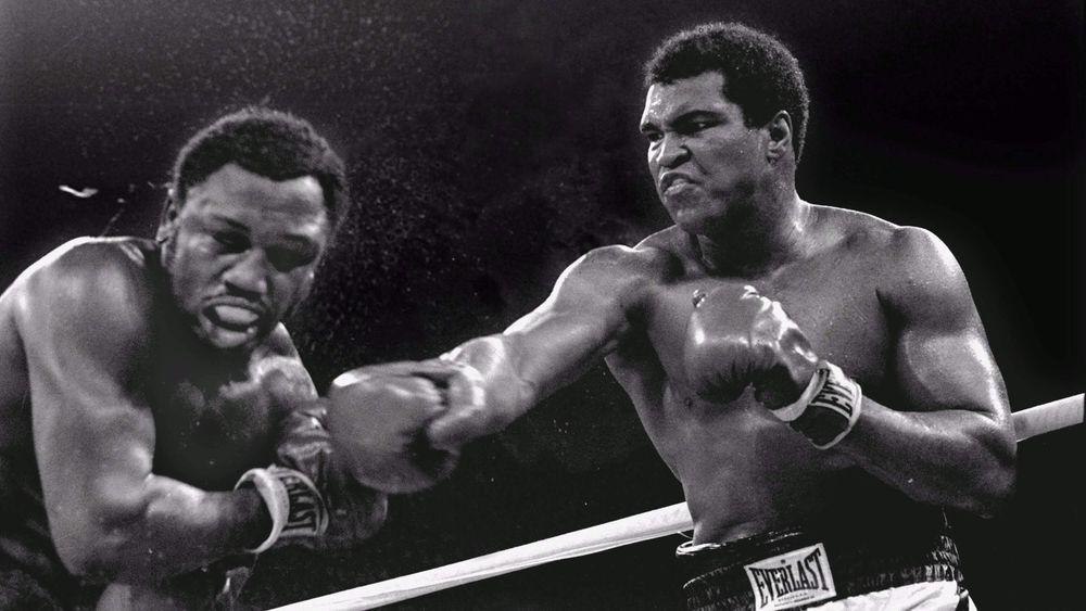 Joe Frazier vs Mohamed Ali.