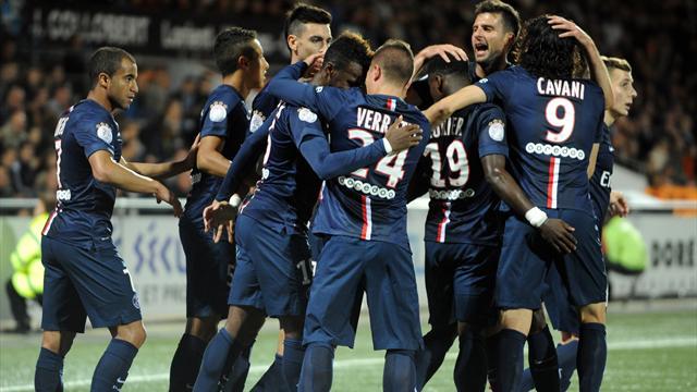 Lorient 1-2 PSG : Paris bosse à mi-temps