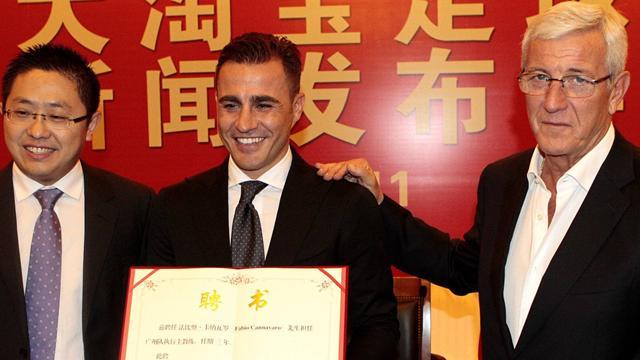 Cannavaro remplace Scolari sur le banc de Guangzhou Evergrande