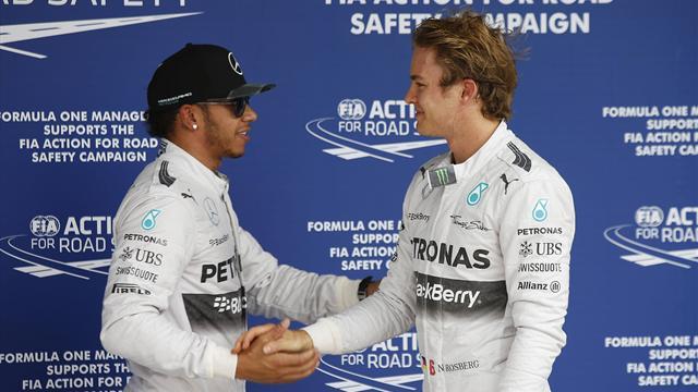 Pour Hamilton, la cohabitation avec Rosberg a �t� 'encore plus dure' qu'avec Alonso