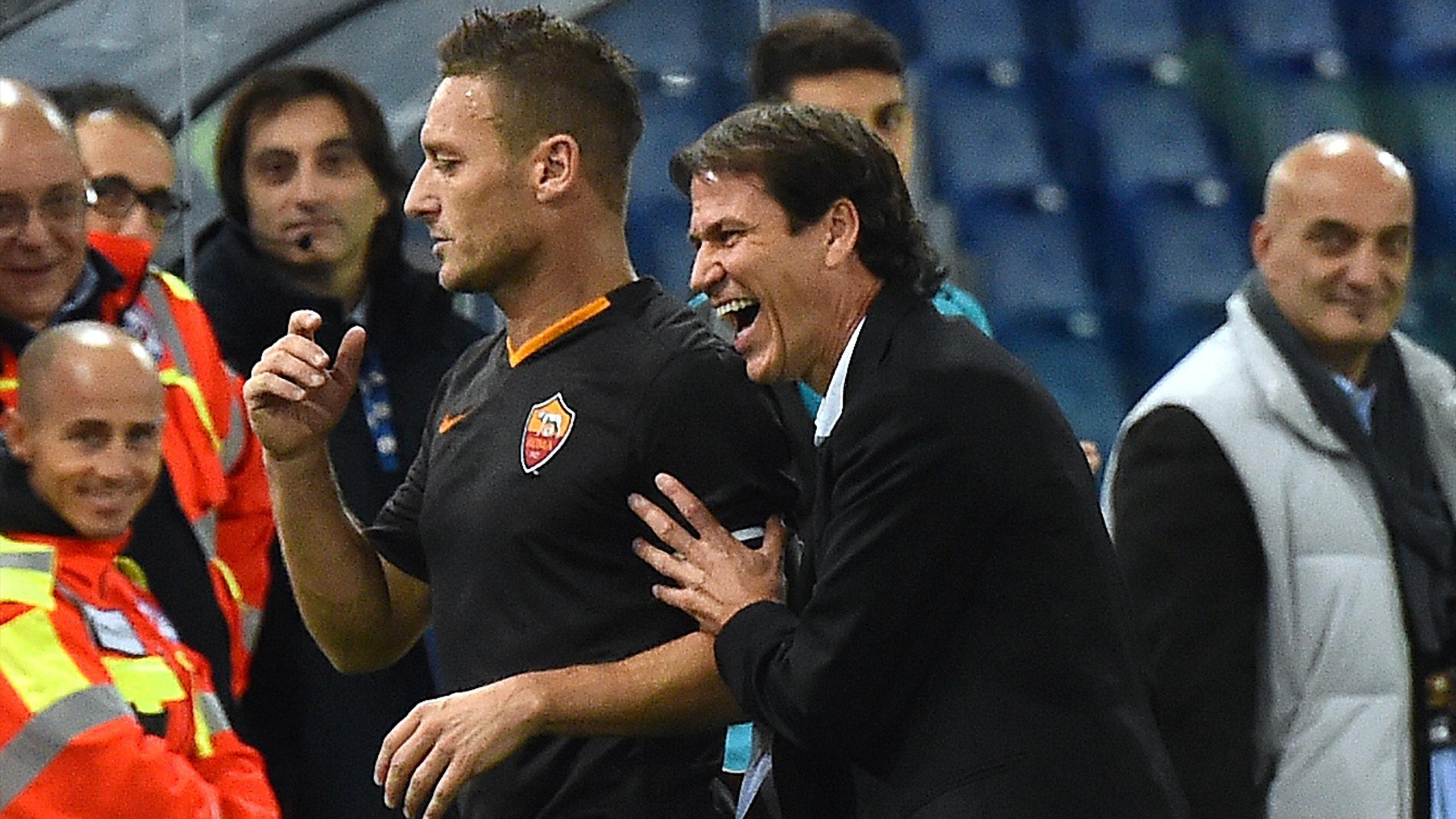 Rudi Garcia et Francesco Totti ont passé une belle soirée contre le Torino
