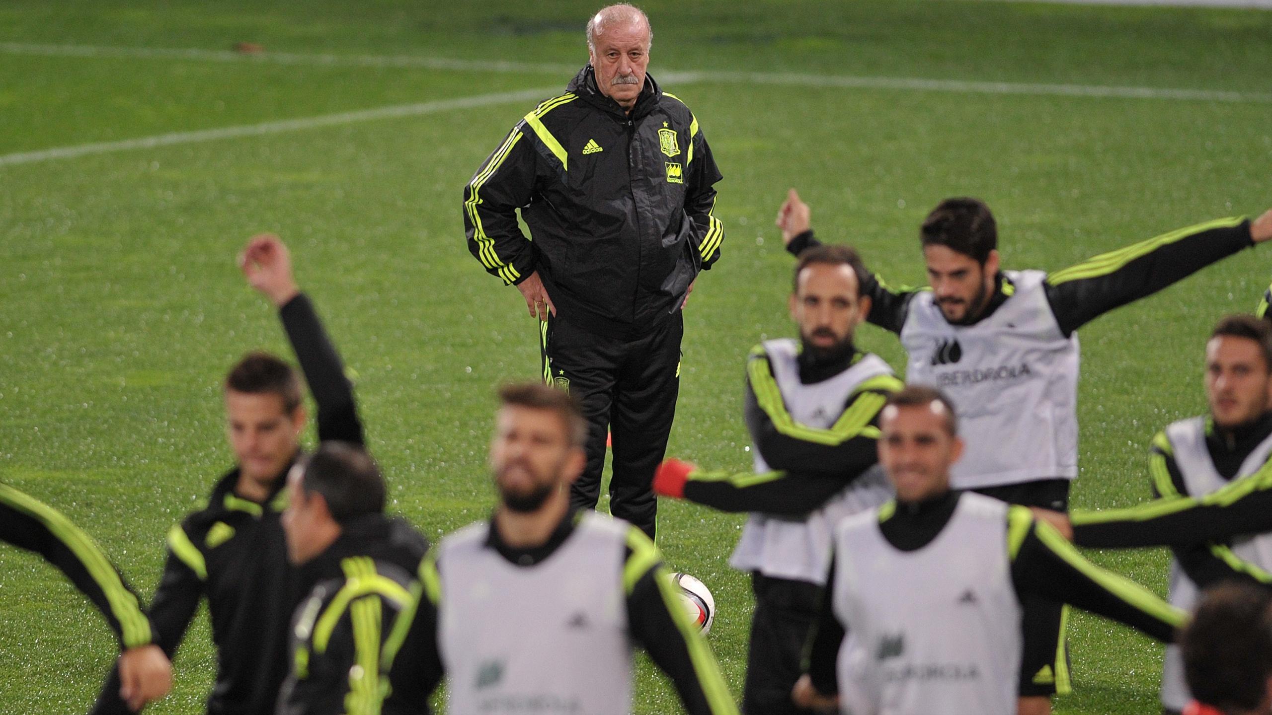 Vicente Del Bosque et ses joueurs de la Roja