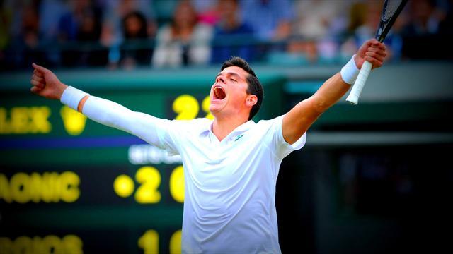 Раонич стал победителем турнира в Брисбене, обыграв в финале Федерера