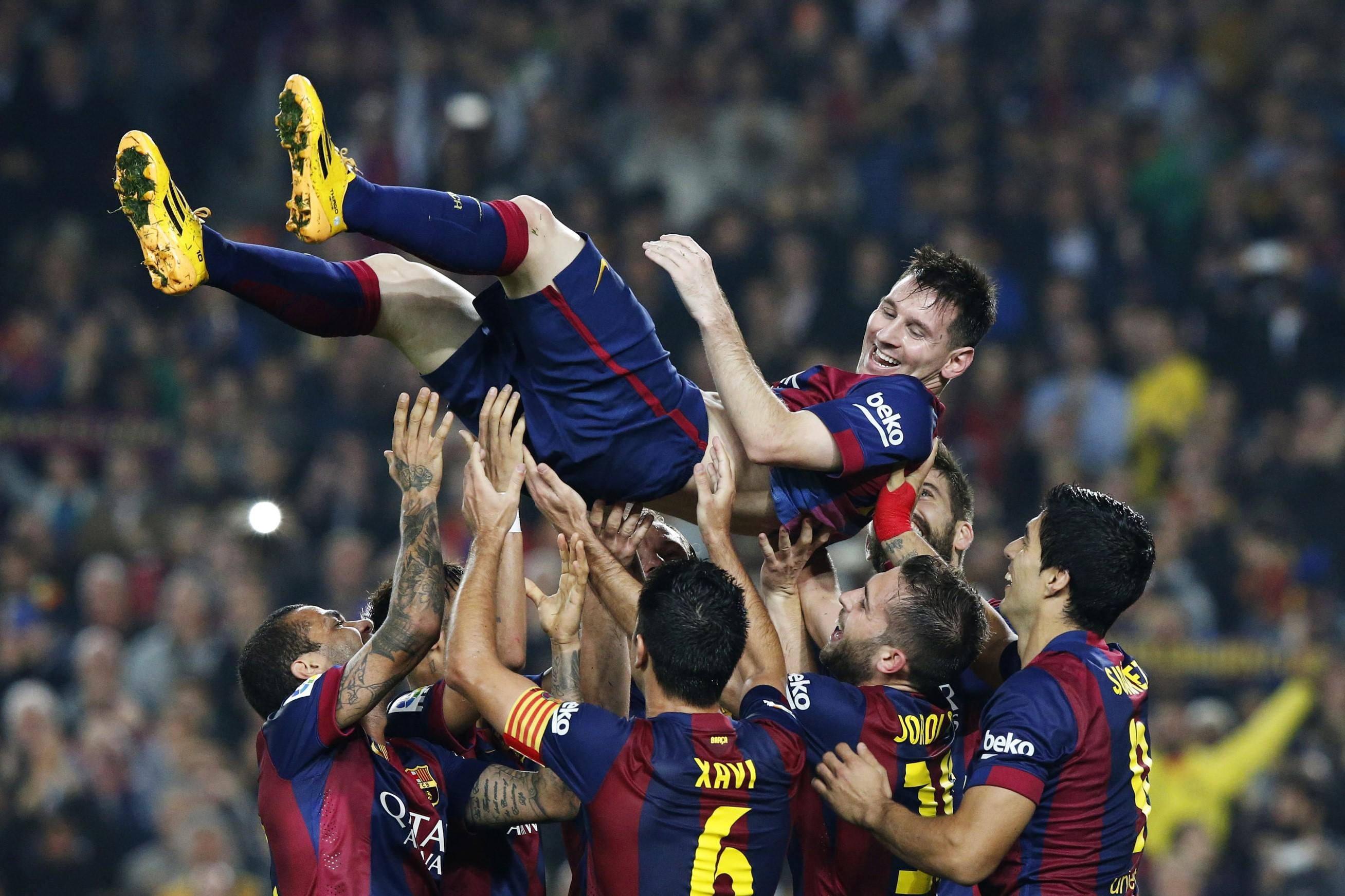 Lionel Messi Luis Suarez Xavi
