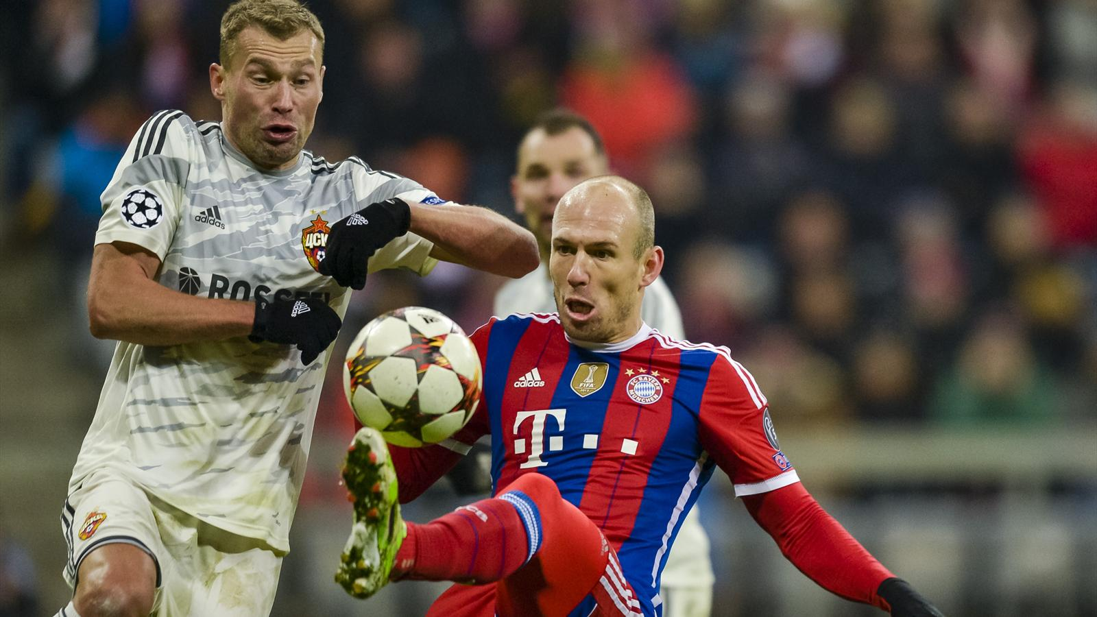 Arjen Robben (Bayern Munich) face au CSKA Moscou