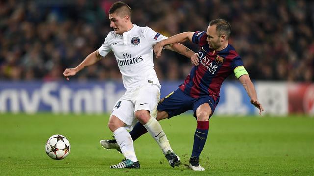 Iniesta : «Verratti, un joueur incroyable avec un futur incroyable devant lui»