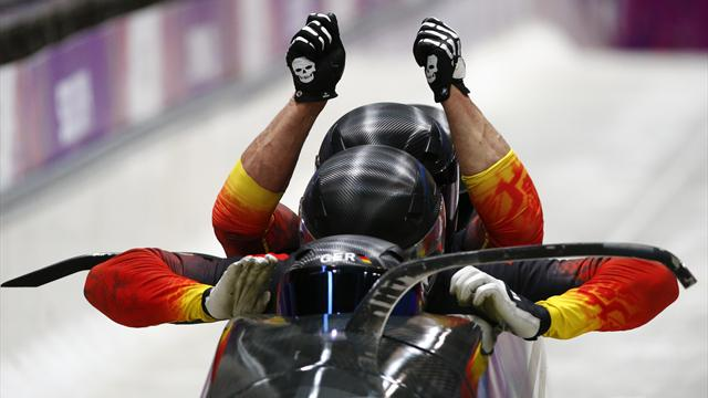 Friedrich and Margis make history with two-man bobsleigh gold