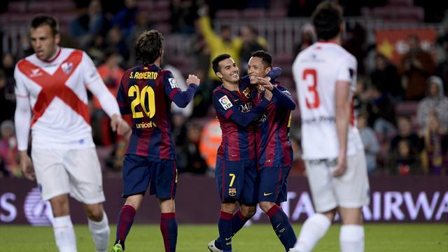 Sans Messi, Neymar ni Suarez, Pedro et le Barça cartonnent quand même