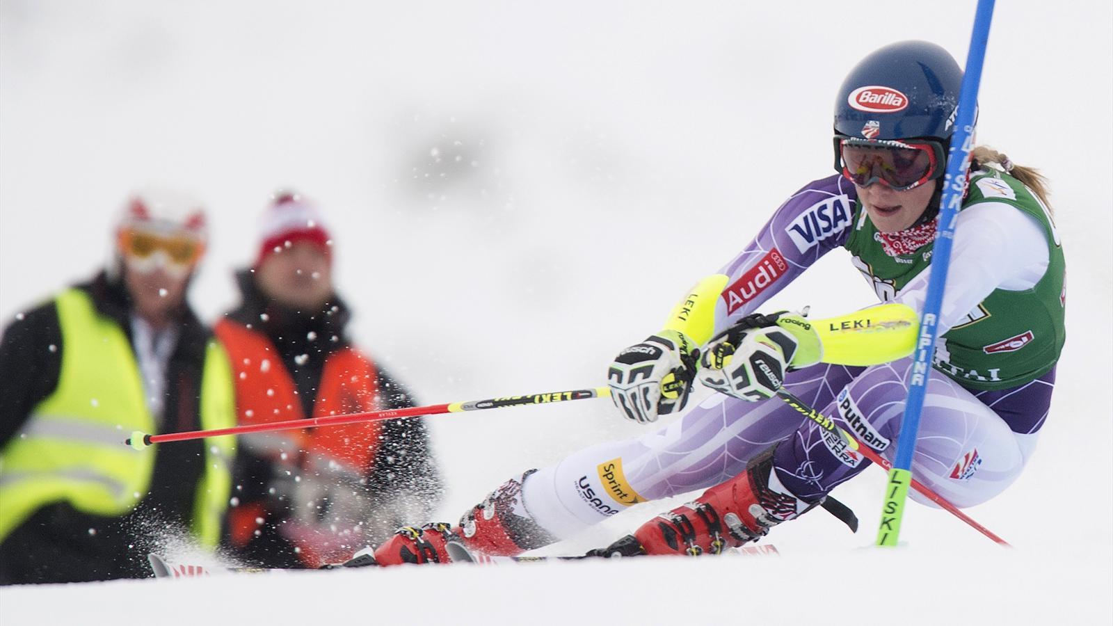 Coupe du monde slalom flachau mikaela shiffrin est - Coupe du monde ski alpin 2015 calendrier ...