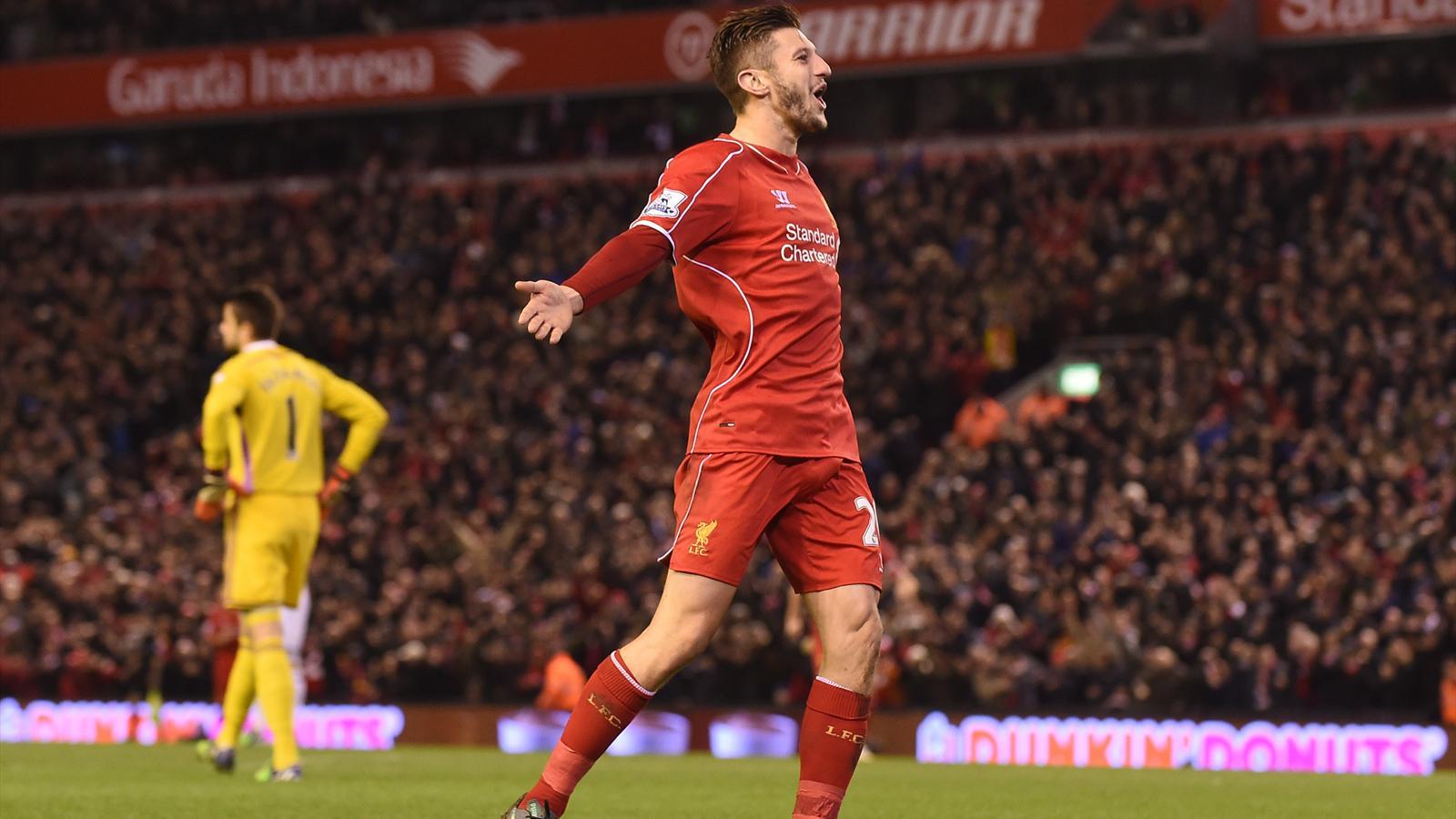 Adam Lallana, buteur avec Liverpool - 2014-2015