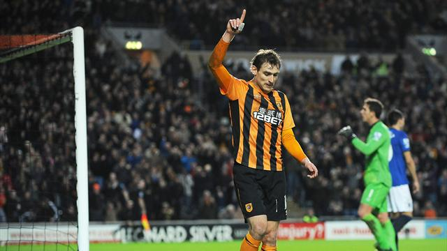 Hull City's Nikica Jelavic celebrates his goal (PA Sport)