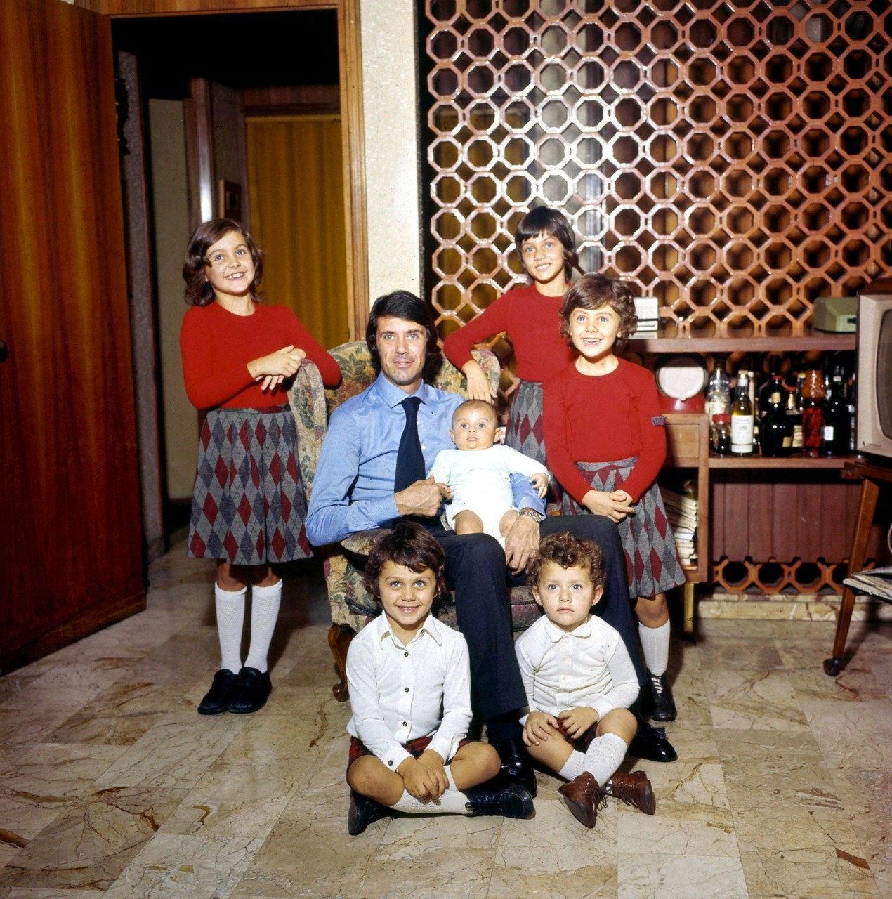 Cesare Maldini and kids