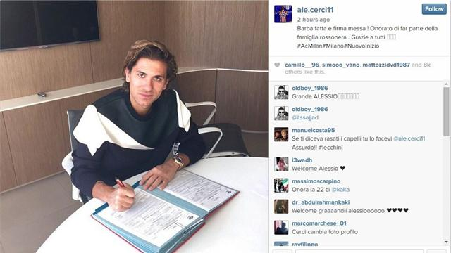 Alessio Cerci completes AC Milan switch
