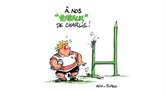 """Les auteurs de la BD """"Les Rugbymen"""" rendent hommage à Charlie Hebdo"""