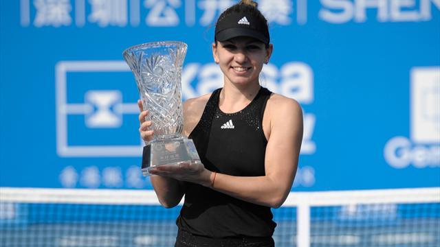 Sick Simona Halep claims Shenzhen title