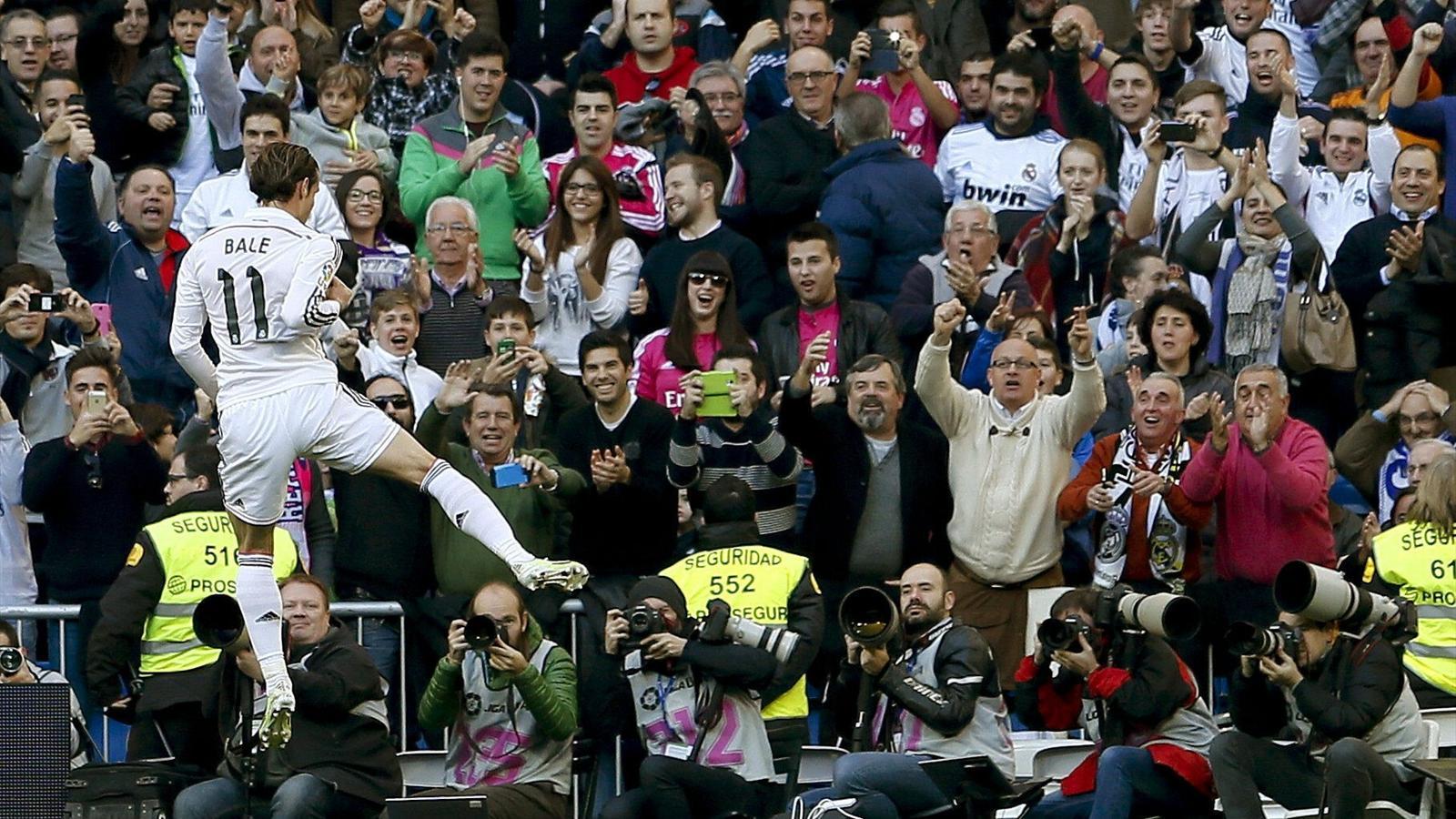 Bale celebra un gol (Real Madrid-Espanyol)
