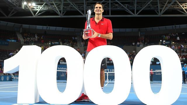 Roger Federer '1000'ler kulübünde!