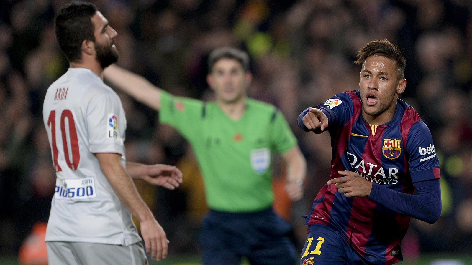 Neymar a ouvert le score pour le Barça face à l'Atlético.