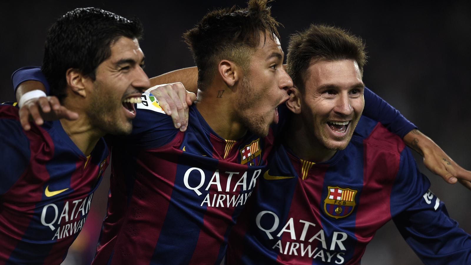 Luis Suarez, Neymar et Lionel Messi ont marqué chacun un but face à l'Atlético.