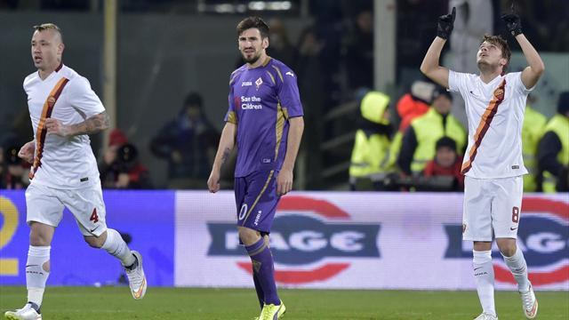 Fiorentina'yı yenemeyen Roma zirveden kayıyor