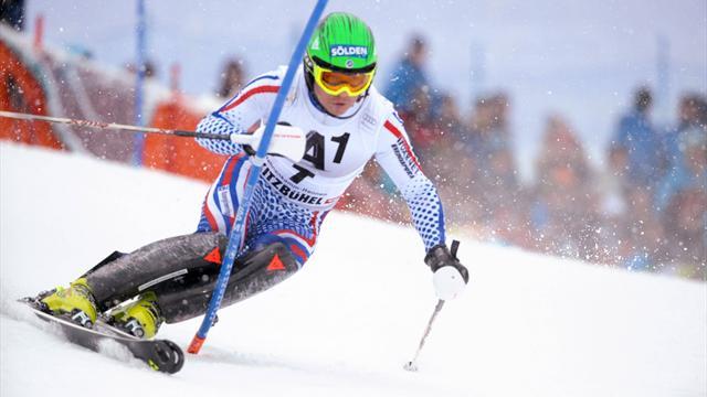 Хорошилов впервые в истории России выиграл этап Кубка мира по горным лыжам