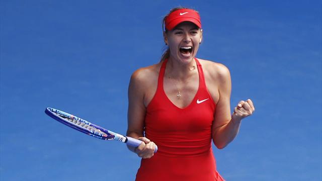 Pour rester en vie et sauver une balle de match, Sharapova n'a pas manqu� de cran