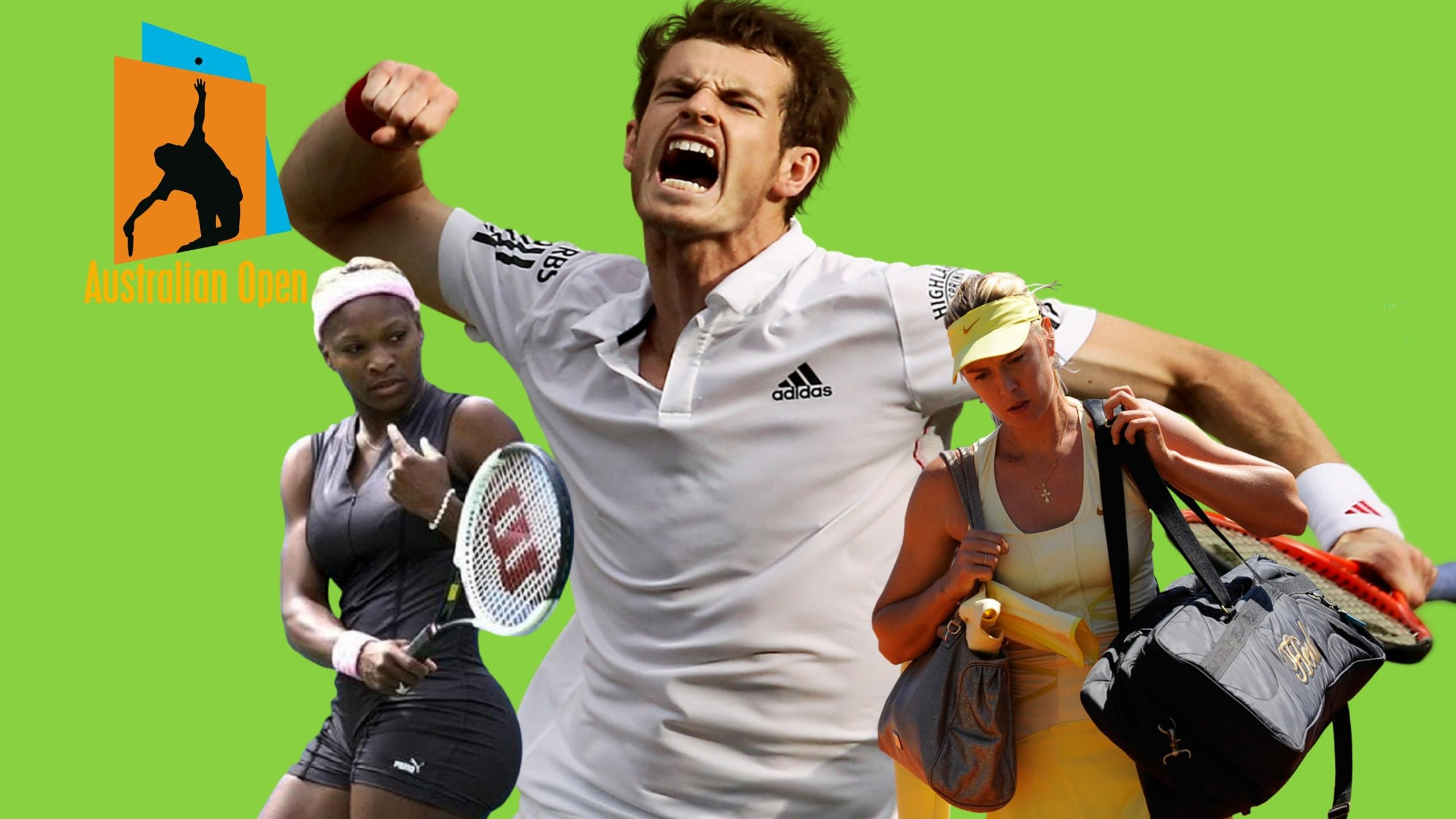 Серена Уильямс, Мария Шарапова и Энди Маррей – в финале Australian Open 2015