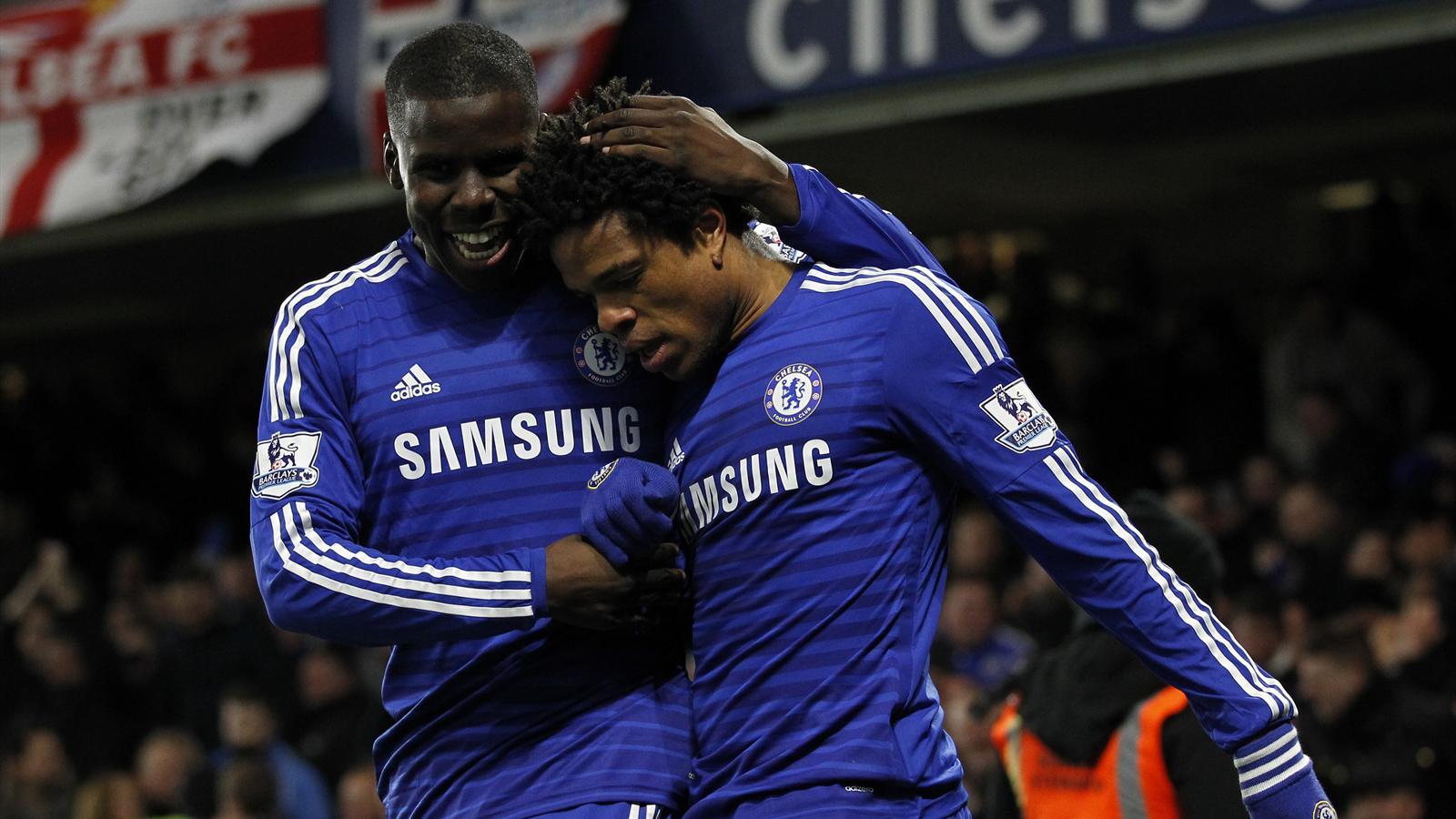 Loic Remy avec Kurt Zouma, lors de Chelsea-Manchester City - 2015