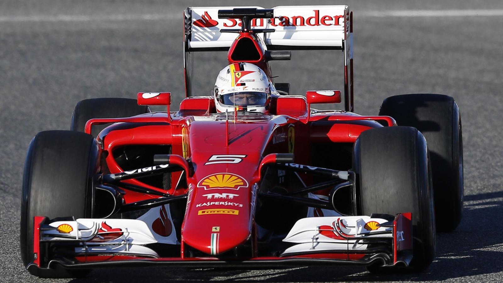 Sebastian Vettel fastest for Ferrari on day one of 2015 testing - Formula 1 - Eurosport