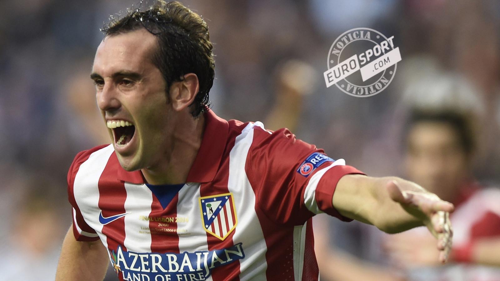 Diego Godin extends Atletico Madrid contract Liga 2015 2016