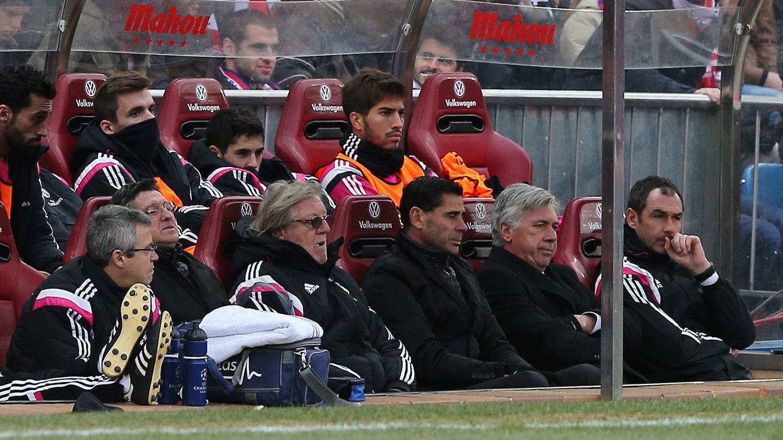 Le dépit du banc du Real Madrid lors du match face à l'Atlético.