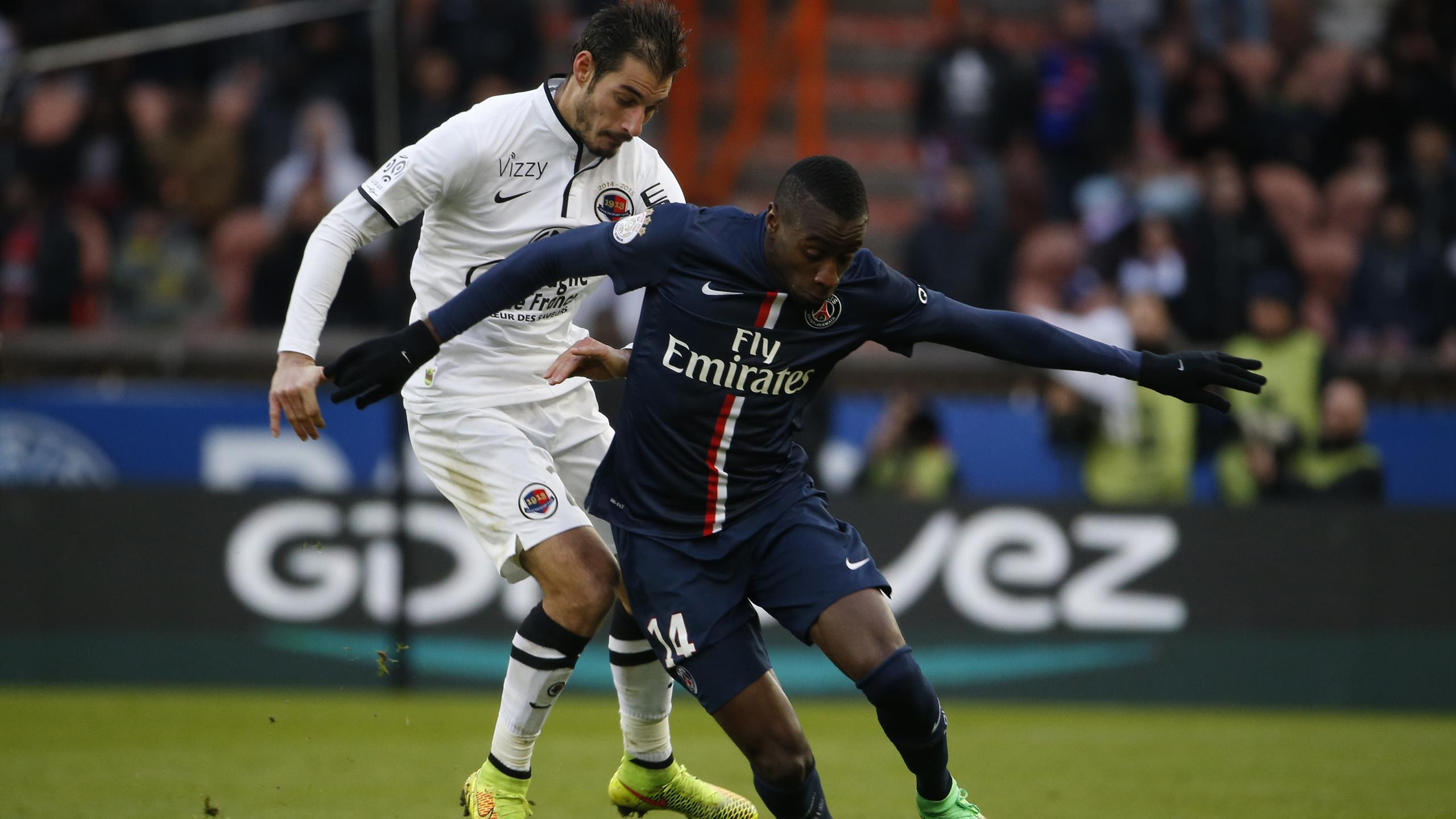 Blaise Matuidi (PSG) face à Caen