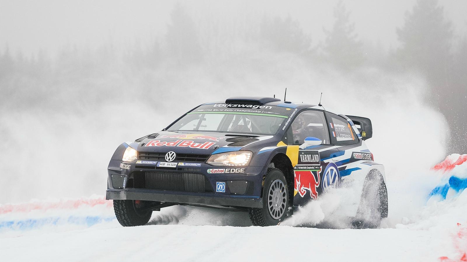 s 233 bastien ogier volkswagen remporte une deuxi 232 me victoire historique rallye de su 232 de 2015