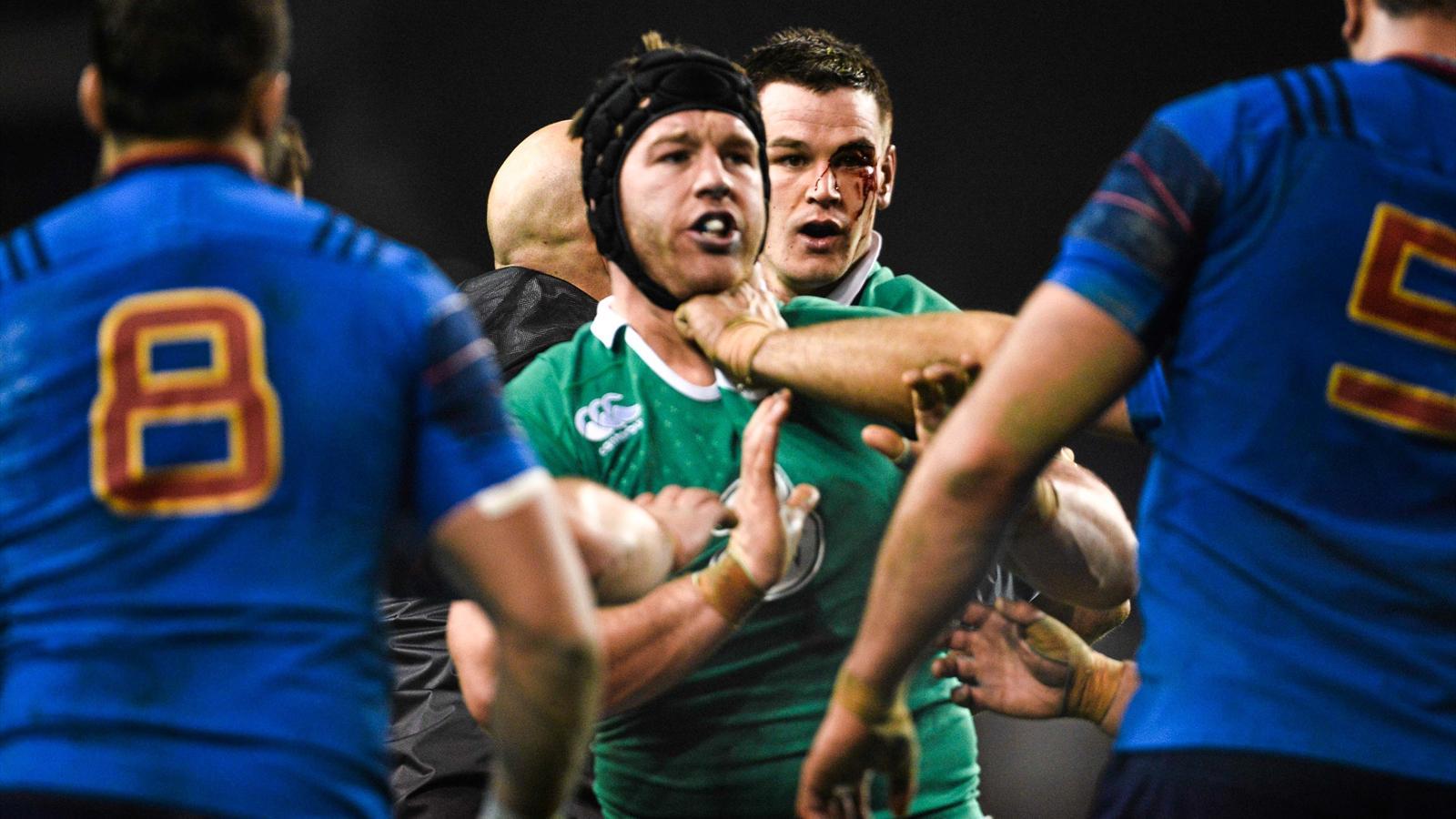 Sean O'Brien. Irlande-France, 14 février 2015