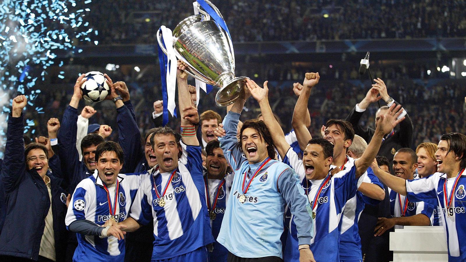 Le FC Porto, vainqueur de la Ligue des champions 2004