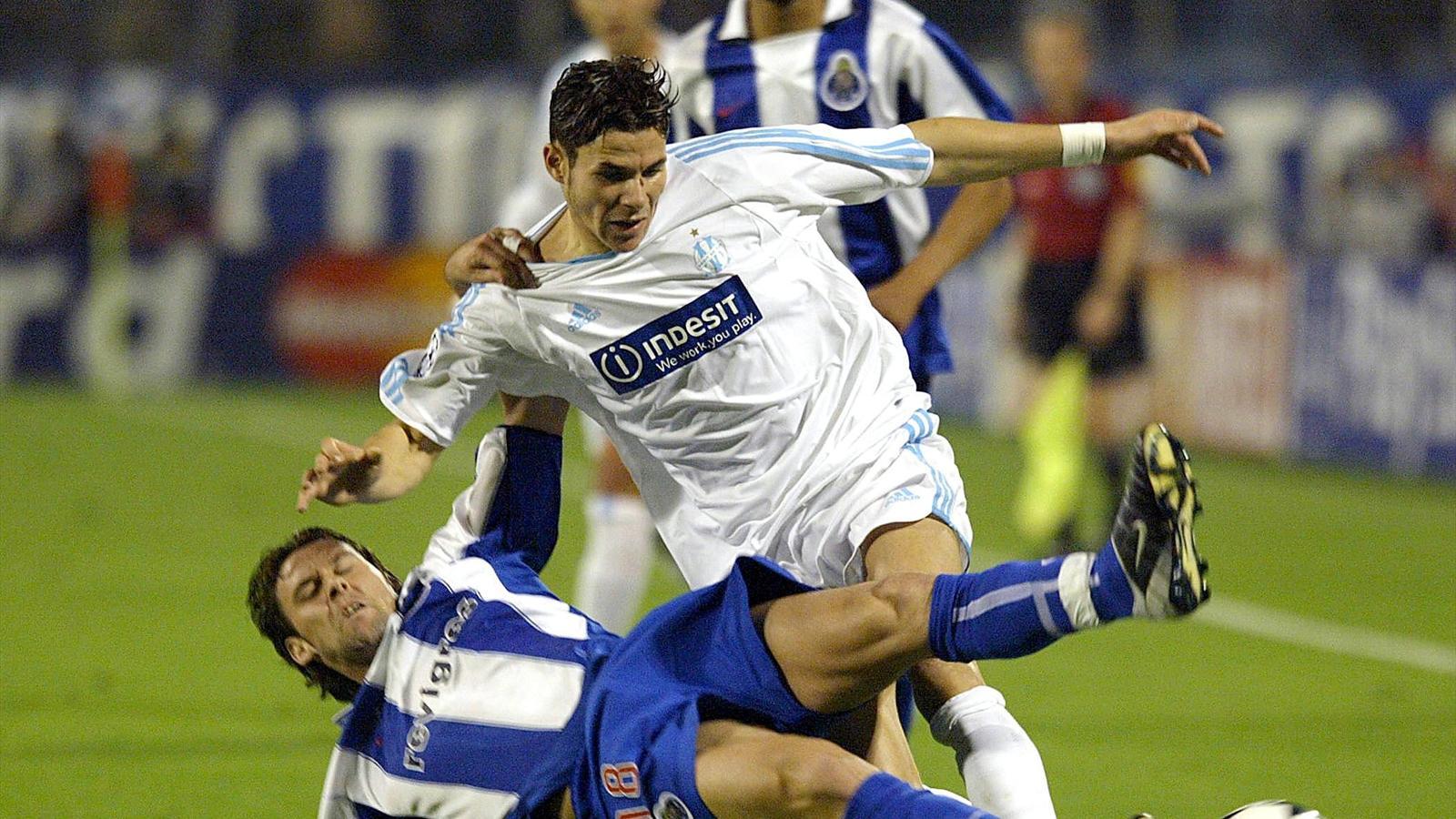 Camel Meriem (OM) taclé par Maniche (FC Porto)