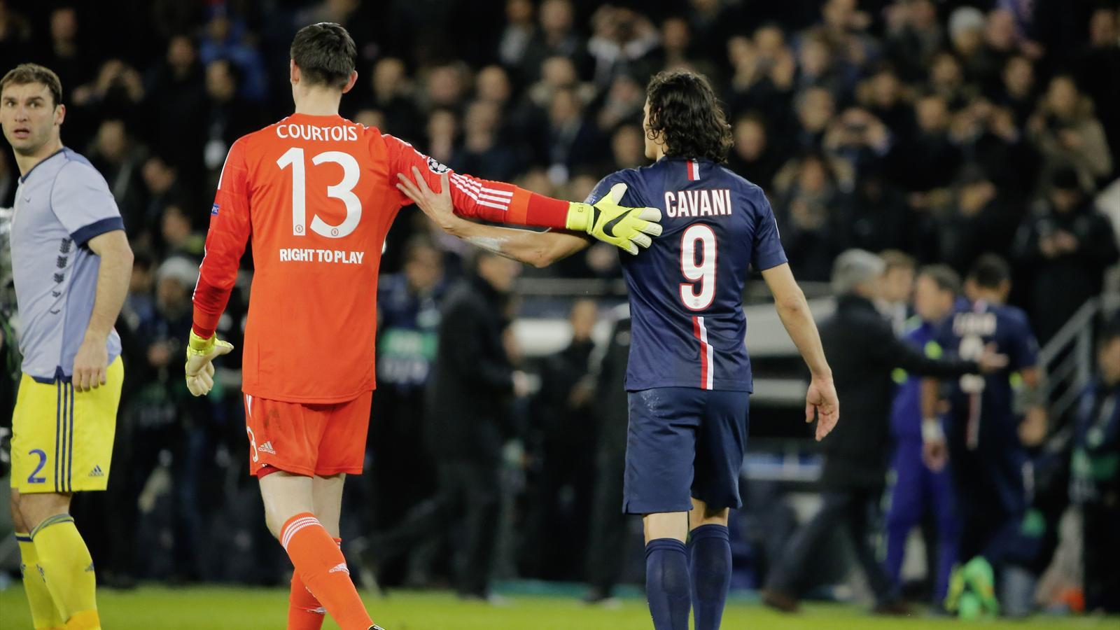 Thibaut Courtois et Edinson Cavani ont été les acteurs majeurs de PSG-Chelsea.