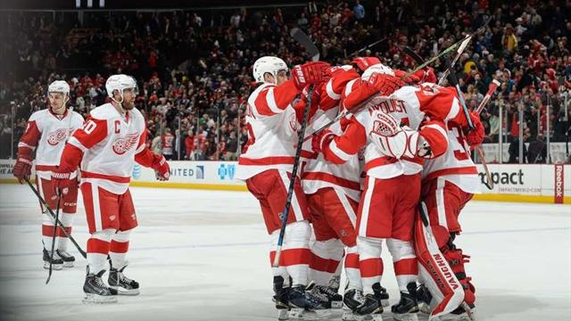 Red Wings beat Rangers in overtime, Sabres edge Hurricanes
