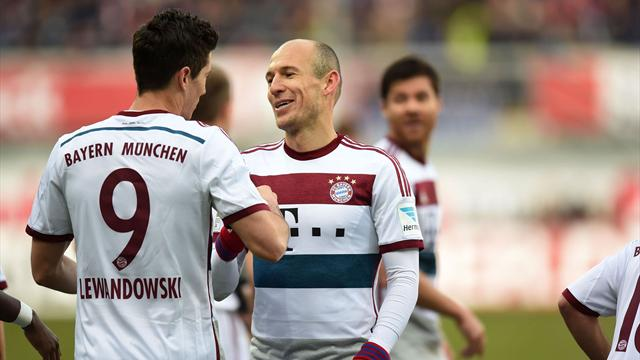 Германия, 9-й тур. Аугсбург— Бавария 1:3. Левандовски продемонстрировал класс