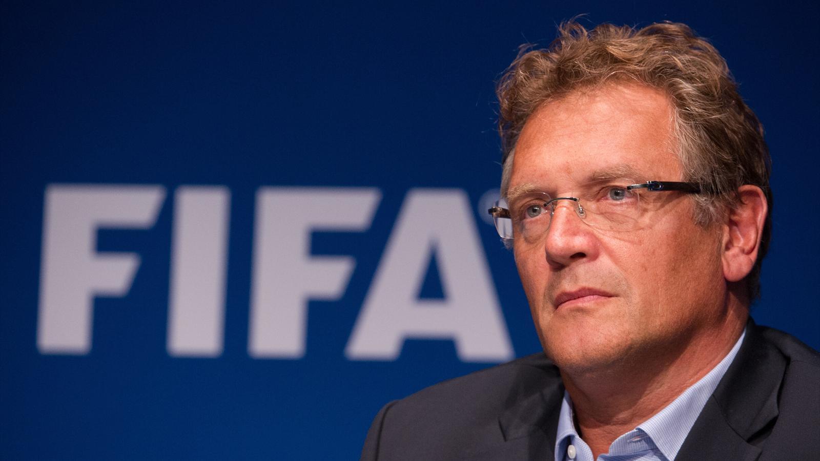 Jerome Valcke en en conférence de presse 26-09-2014